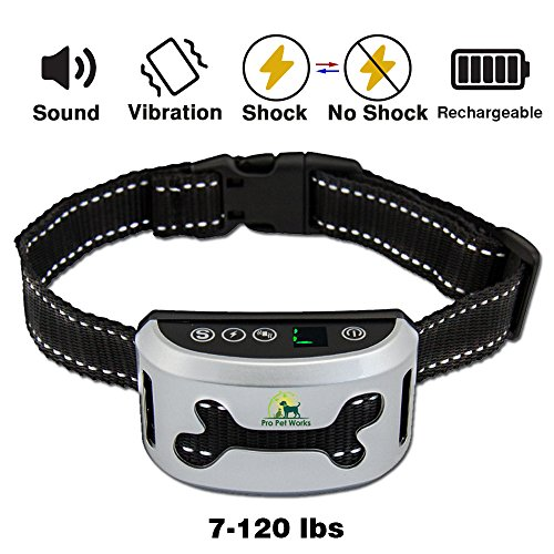 Bark Collar By Pro Pet Works [2018] No Bark Collar With VIBRATION-Humane And RECHARGEABLE Barking Collar For Dogs-Bark Control For Small Medium And Large Dogs-Training Collar