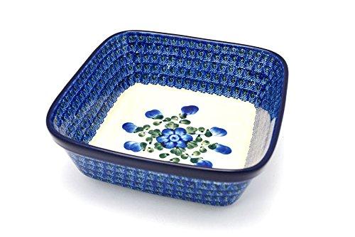 (Polish Pottery Baker - Square - Blue Poppy)