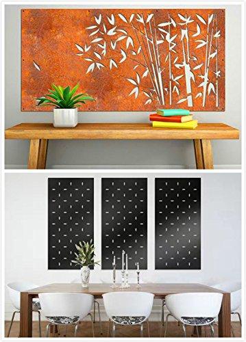 kayee® - Decoración, diseño de bambú, Biombo, decoración de pared exterior, biombos pared, privacidad, imágenes, vallas, Separador  600 mm × 1200, ...