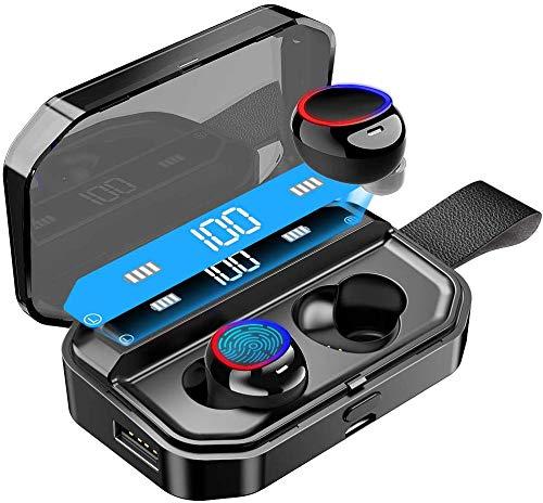 Aikove Bluetooth Kopfhörer, Wireless Kopfhörer Kabellos In Ear Ohrhörer Bluetooth 5.0 Headset mit 4000mAh Ladebox Noise Cancelling Earbuds 160 H Spielzeit,Sport Wasserdicht IPX7 Ohrhörer mit Mikrofon