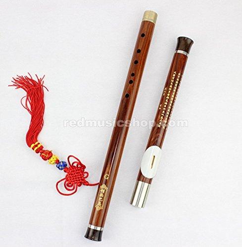 Professional Rosewood Bawu Flute, Chinese Bawu Flute (F Key) by Red Music Shop