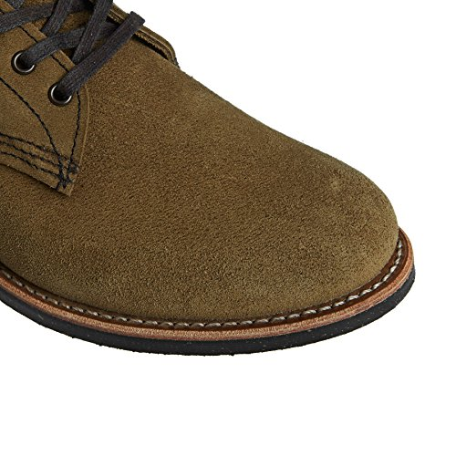 Mens Braun 8062 Wing Olive Boots Merchant Red Suede vBxOqw