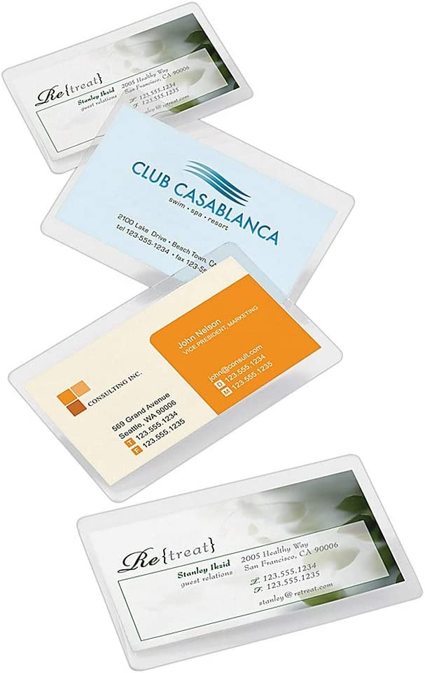 Card Size Laminating Pouches Laminator Sheets 25 pk 2.56 x 3.75 5 Mil Quality