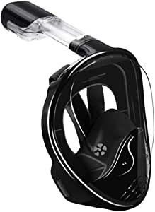 Full Face Snorkel Mask-180 Panoramic View Anti-Fog Anti-Leak Snorkeling Mask,Comfort and Superior Optics in A Snorkel Mask with Detachable Camera Mount for Adult and Kids