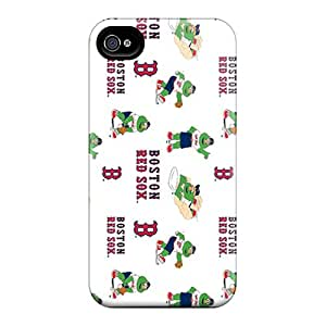 Shock Absorption Cell-phone Hard Cover For Iphone 4/4s (OKk5673kcTU) Provide Private Custom Lifelike Boston Red Sox Series