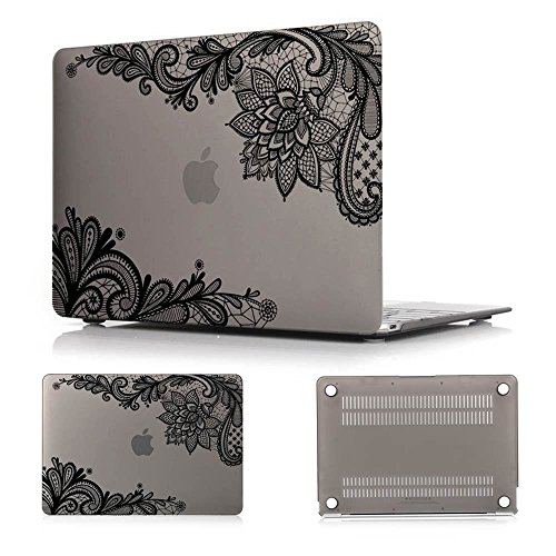 "Batianda(TM) Lace MacBook Pro Retina 13 Case Hard Protective Cover for MacBook Pro 13.3"" with Retina Display (Model:A1502 / A1425)(Grey)"
