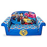 Marshmallow Furniture - Children's 2 in 1 Flip Open Foam Sofa, Disney Mickey Mouse Roadsters Flip Open Sofa (Colors May Vary)