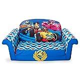 Marshmallow Furniture - Children's 2 in 1 Flip Open Foam Sofa, Disney Mickey Mouse Roadsters Flip Open Sofa