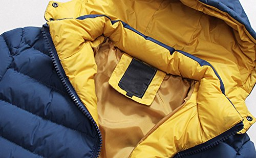 Hombres capucha invierno con R abajo sudadera abrigo SODIAL 2014 anorak azul Abrigo XXL Caliente chaqueta marino dqwExdYXv