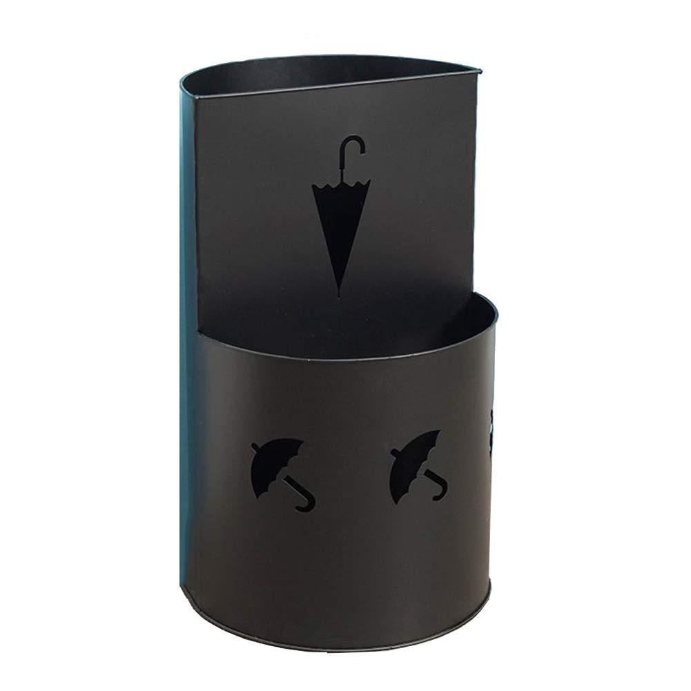 ZGLアンブレララック 北欧の鉄の傘の立場、世帯のオフィスの傘の棚、ホテルのロビーの傘の収納バケツ30×50CM (Color : Black) B07T2G4CTJ Black
