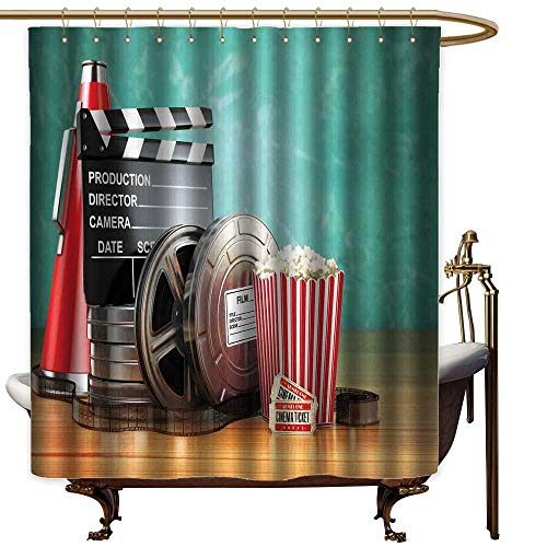 Vintage Shower Curtain Movie Theater,Production Theme for sale  Delivered anywhere in USA