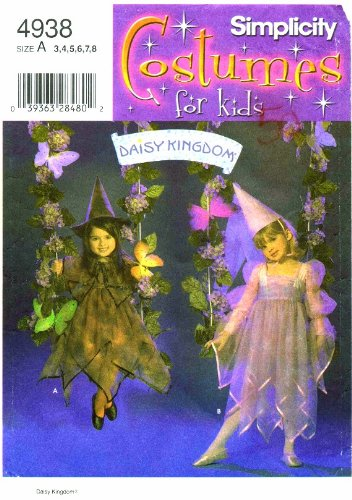 [Simplicity 4938 Daisy Kingdom Costume Pattern Size 3 - 4 - 5 - 6 - 7 - 8] (Princess Daisy Costumes Pattern)