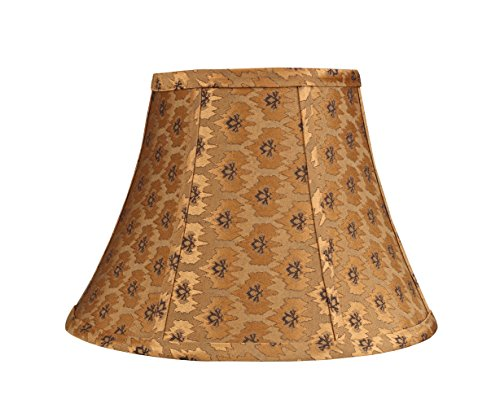 Aspen Creative 30018 Transitional Bell Shape Spider Construction Lamp Shade in Pumpkin Gold, 13