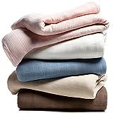 India Hicks Hidden Mangrove 100% Cotton Blanket Queen Blue