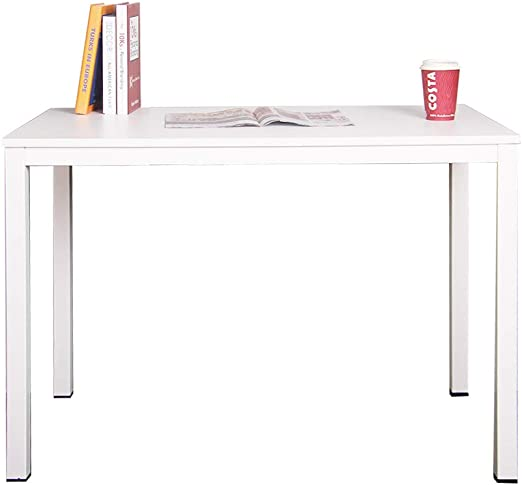 DlandHome Mesa de Ordenador 100x60cm Escritorio de Oficina Mesa de ...