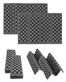 inet-trades 2x Folding Stadium Seat Cushion Folding Thermal Cushion/Chair Cushion Chair Seat ISO Cushion Black 40X30X1CM