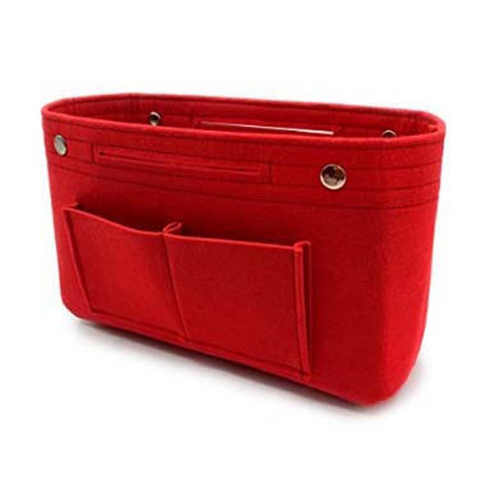 Feltro borsa organizer, Aolvo borsetta organizzatore inserto borsa Pocketbook trucco contenitore cosmetico Storage Bag per donne ragazze
