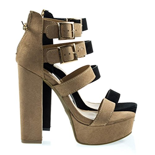Tournament31 Camfs Chunky Block Heel Gladiator Open Toe Dress Sandal On Platform  8 5