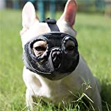 JYHY Short Snout Dog Muzzles- Adjustable Breathable Mesh Bulldog...