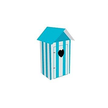 2 casetas de playa en azul turquesa, de 9,7 cm x 4,5 cm: Amazon.es: Hogar