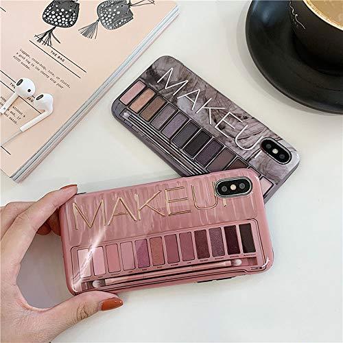 BONTOUJOUR iPhone 7/ iPhone 8 Case, Stylish Luxury Eye Shadow Makeup Pallete Phone Case, Girl Fashion Eye Shadow Box Soft TPU Cover Case Glossy Surface Good ()
