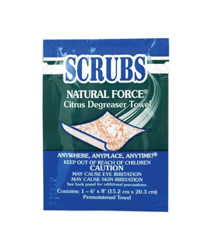 crubs Natural Force Degreaser Cloth Wipe, 12-1/4