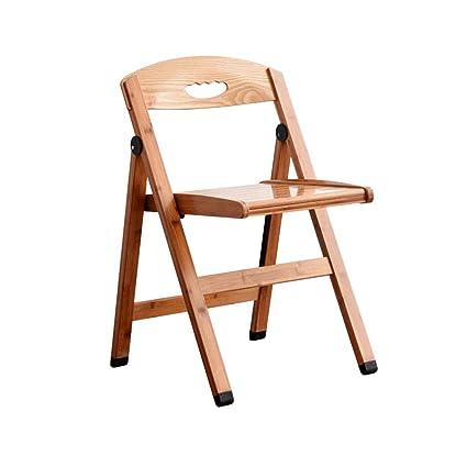 silla plegable Respaldo de bambú Silla de Comedor Silla de ...