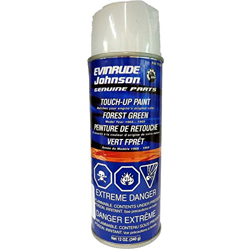 OEM BRP OMC Johnson Evinrude 1968-1969 Forest Green Touch-Up Spray - Paints Oem