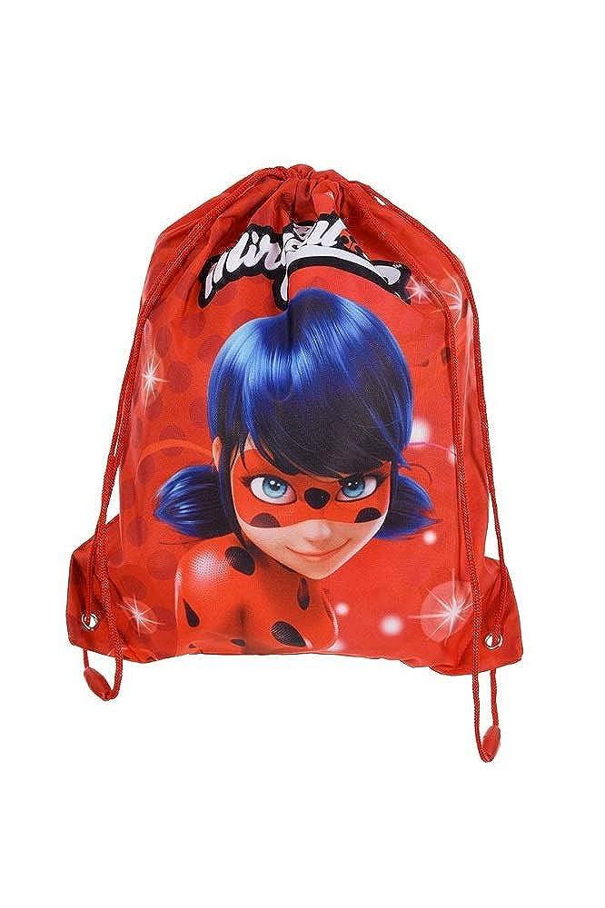 Sac /à Dos Cordon Ladybug Imperm/éable Sac de Sport//Piscine//Gym Miraculous Lady Bug Poches de Gym Lady Bug pour Chaussures de Voyage