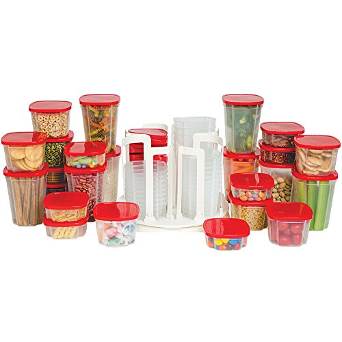 49-Piece Swirl Around Food Storage Container Organizer With Carousel ASOTV (Carousel Storage Container compare prices)