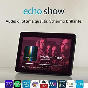 """Echo Show (2ª generazione) – Audio di ottima qualità e brillante schermo HD da 10"""" – Nero"""