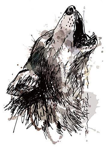 Tatuaje falso de lobo para festivales, tatuajes de fiesta ...