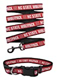 NC State Wolfpack Nylon Collar and Matching Leash for Pets (NCAA Official by Pets First) Size Small