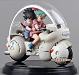 Dragon Ball Z Son Goku Bulma Motorcycle PVC Action Figure Collectible Model Toy