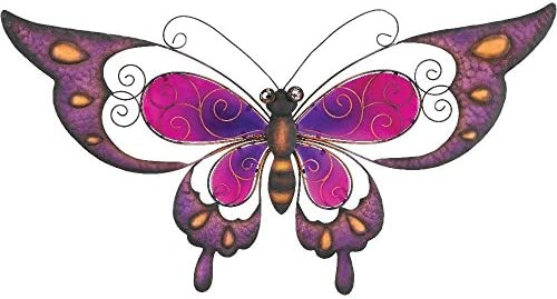 Regal Art Gift Butterfly Wall Decor, 29-Inch, Purple