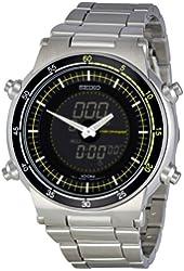 Seiko Men's SNJ023P1 Retro Silver Dial Watch