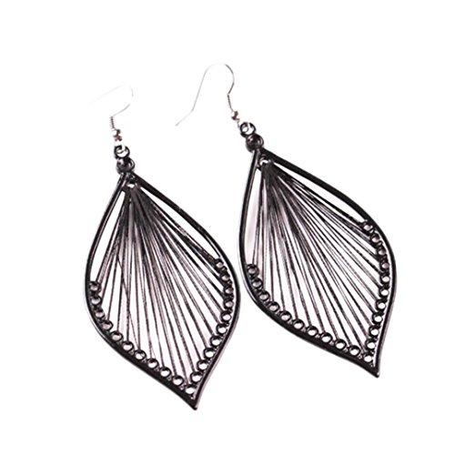 Clearance Earring 1Pair Fashion Women Leaf Stud Dangle Earings Eardrop Jewelry New by Laimeng (Black) -  Laimeng Pro