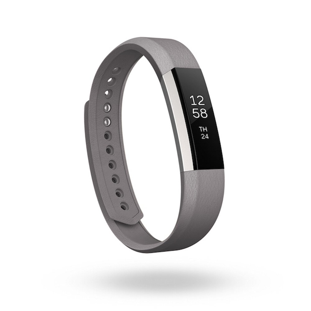 Fitbit Alta, Accessory Band, Leather, Graphite, Small by Fitbit