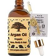 SEHR GUT IM TEST – R&M Beauty-Oleo Bio Argan-Öl aus Marokko mit Pipette – Fair Trade Öl für Haare, Gesicht, Nägel…