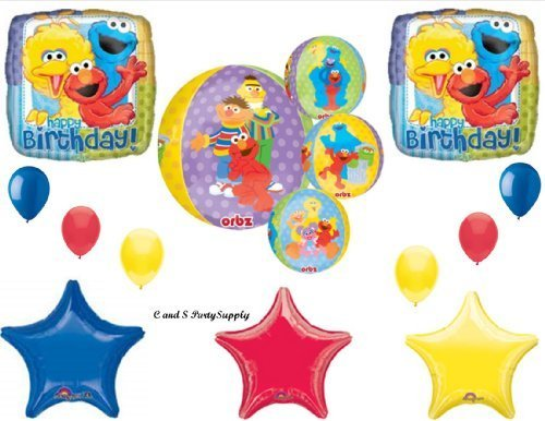 Balloon Sesame Street Balloons (SESAME STREET NEW ORBZ HAPPY BIRTHDAY PARTY BALLOONS Decorations Supplies NEW!! by Anagram)