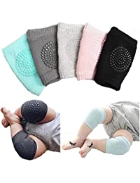5 Pairs Baby Crawling Anti-Slip Knee for Boys Girl 2 Month - 3 Year Old Baby Unisex Baby Toddlers Kneepads Baby Knee Pads Toddlers Kneepads Adjustable Knee Elbow Pads Crawling