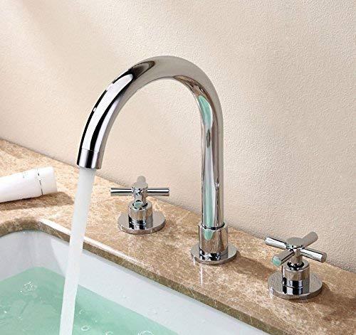 23 Oudan Basin Mixer Tap Bathroom Sink Faucet Basin faucet 3-Piece 6 (color   8)