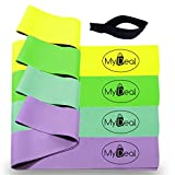 Cheap MyDeal PocketGYM Fitness Stretch Band 6pc Portable Exercise Set with 4 x 100% Natural Latex Flat Elastic Fitness Bands (48 x 2.5 inches), Door Anchor and Carrying Case for home workout programs!