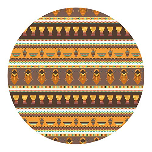 RNK Shops African Masks Round Decal - XLarge