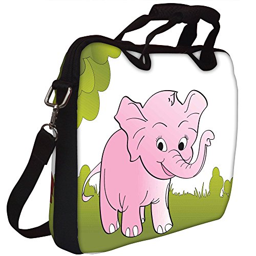 Snoogg nette große Elefant Hintergrund Gedruckt Notebook-Tasche mit Schultergurt 15 bis 15,6 Zoll