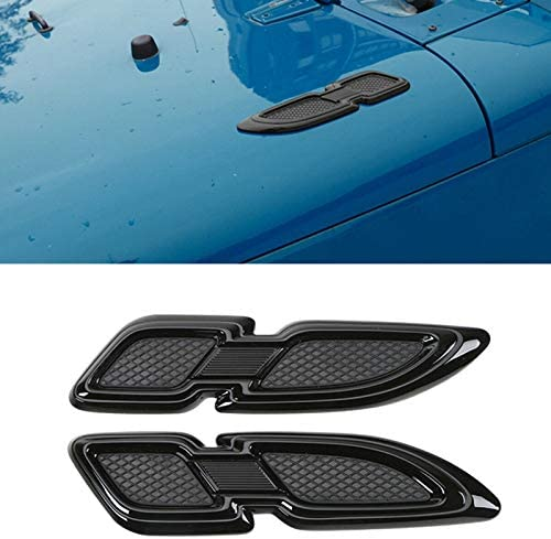 Tuneway Air Flow Engine Hood Side Body Intake Vent Cover Decoration Stickers for JK 2007-2017