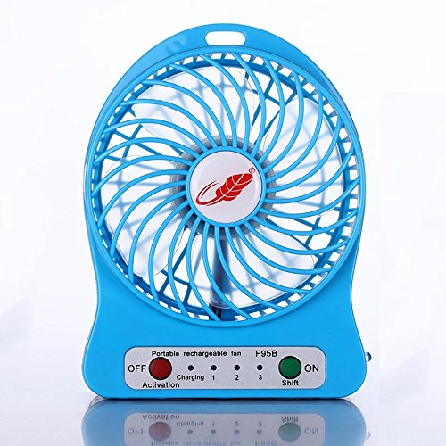 Portable USB Mini Fan Table Electric Quiet Fan 1200mah Rechargeable - Ken Wood Mall
