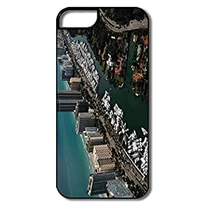 For Iphone 5C Case Cover, Yachts Miami Florida White/black For Iphone 5C Case Cover