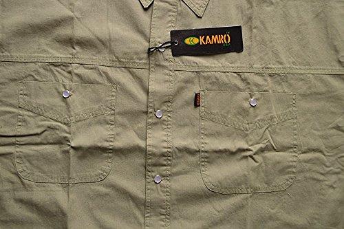 SALE !!! Übergrößen !!! Schickes Kurzarm Hemd KAMRO in Khaki uni 2XL - 8XL