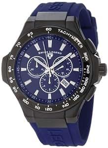 Swiss Legend Men's 40051-BB-03-R Maverick Chronograph Blue Dial Blue Silicone Watch